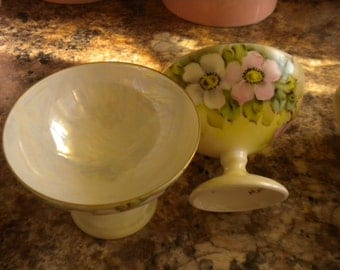 Set of 3 BAVARIAN Dessert Cups, Eclectic,Shabby chic Kitchen,French,Serving,Cottage,Victorian,Elegant