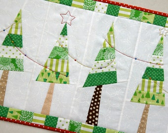 Festive Christmas Tree Table Runner PDF pattern
