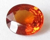Natural Orange Spessartite, Africa, Unheated, Oval 7.4x6.5x3.5mm, 1.26 carat