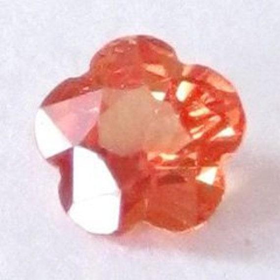 RESERVED to Lynn ---- Genuine Orange Sapphire, Africa, Flower Cut 4.8x2.6 mm, 0.47carat