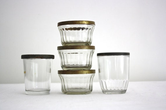 Five Vintage Jelly Canning Jars - Atlas and Ball