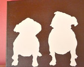 """24"""" Canvas Dog Silhouette Painting Customized for Your Pet  in Your  Choice of Colors"""