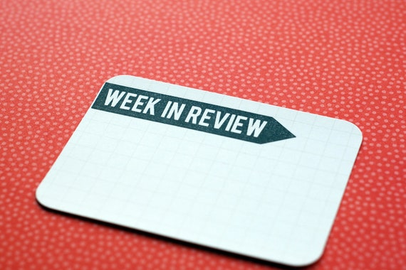 WEEK IN REVIEW : unmounted red rubber stamp