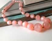 Pink Pearlescent Vintage Necklace