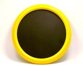 framed chalkboard, organization, bright yellow, colorful, kitschy, retro colors, home office, dorm room, chalkboards