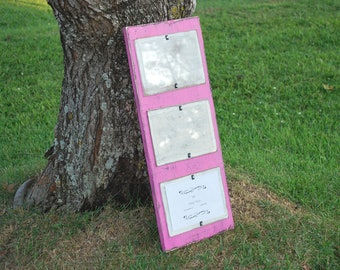 Three 5X7 Picture Frame - Pink