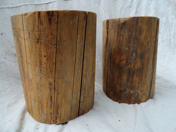 Christmas special: Pair of hardwood stump tables shipped before Christmas