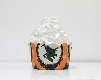 Witch Halloween Cupcake Wrappers