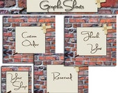 Etsy Shop Banner and Avatar Set - Retro Brick Style Set