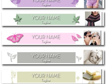 Custom Etsy Shop Banner  -  Boutique Banner with your photos and Text - (Or Facebook Timeline Banner) cover banner