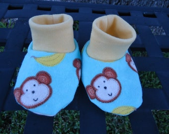 Newborn Baby Booties Monkey Face Size 0-3 months Shoes