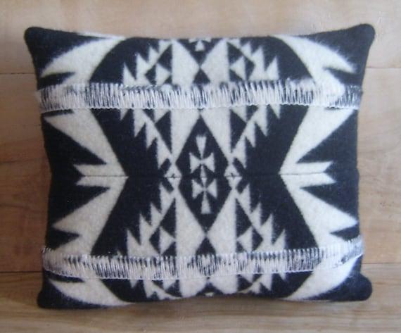 SALE Wool Throw Pillow, 14x16 ... Native, Geometric, Tribal