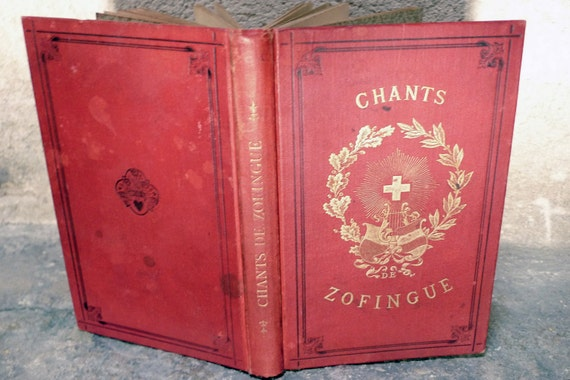 Music Journal Upcycled from an antique French Book