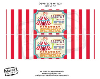 Carnival Beverage Wrappers