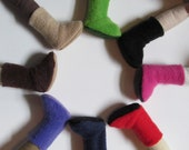 "SALE Fleece doll boots for 11"" doll"