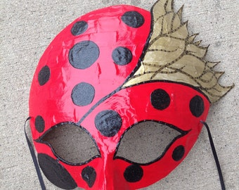 lady bug mask, ladybug mask, lady bug costume, ladybug with wings