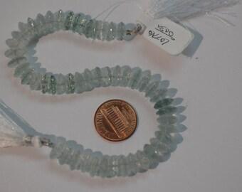 Aquamarine Hydro Quartz Disk Faceted