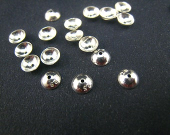 sterling silver beadcap 5mm,50 pcs
