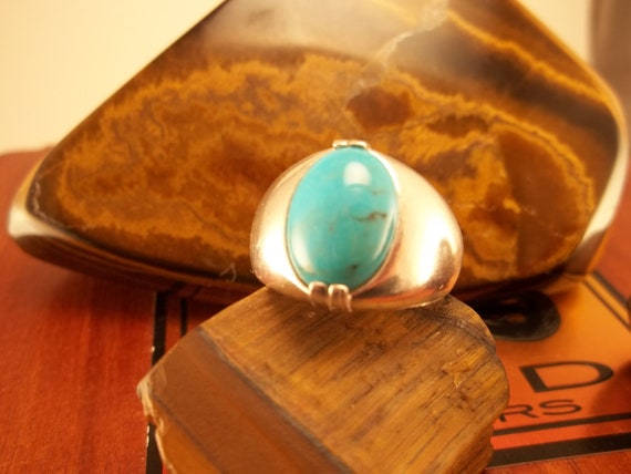 Turquoise Sterling Silver ring Was 42.00 On Sale 35.00