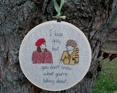 Wes Anderson Moonrise Kingdom Hand Embroidered Hoop Art