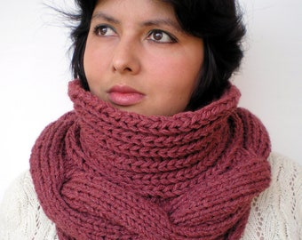 Amphora Cowl Super Soft mixed Wool Neckwarmer Woman Cowl Rusty 3D Texture Fall Winter Accessories NEW