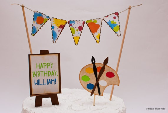 Art Easel Cake Topper : Items similar to Painter s Palette : Personalized Art ...