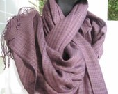 Plaid purple CRINKLE cotton Shawl scarf  Womens Scarves 2012 fashion Turkish Scarf