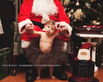 Gingerbread Princess Brown Tutu Set with Matching Gingerbread Felt Headband Christmas Tutu Set Photography Prop Newborn-53t