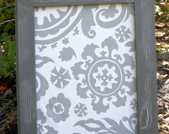 """18x22"""" Gray VintageStyle Frame with Fabric Cork Board"""