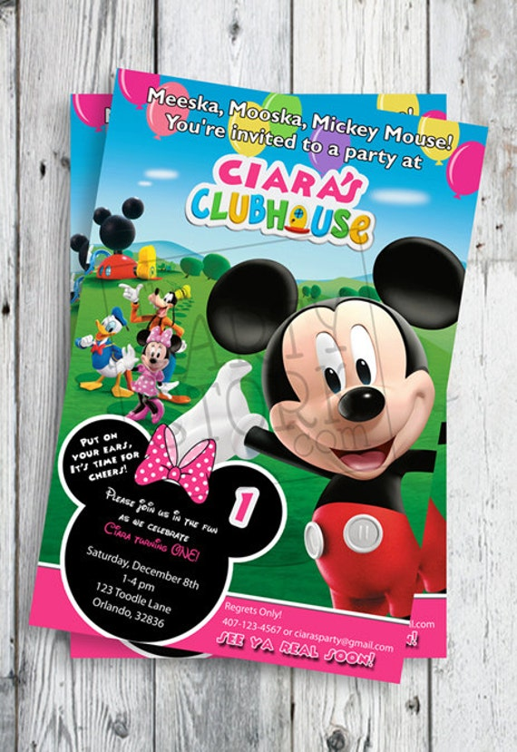 free printable mickey mouse clubhouse birthday invitations