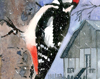 ACEO Limited Edition 1/25- Sleet day