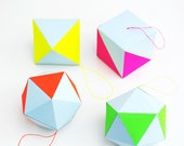 CRAFT KIT - pastel & neon geometric decorations