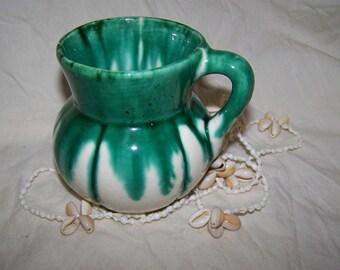 Teal Pottery Vase