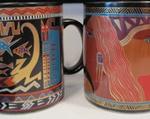 Vintage Laurel Burch Mugs, 3 Collector's Items, 3 Mugs in Mint Condition