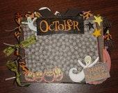 Halloween Paper Bag Album 8x6