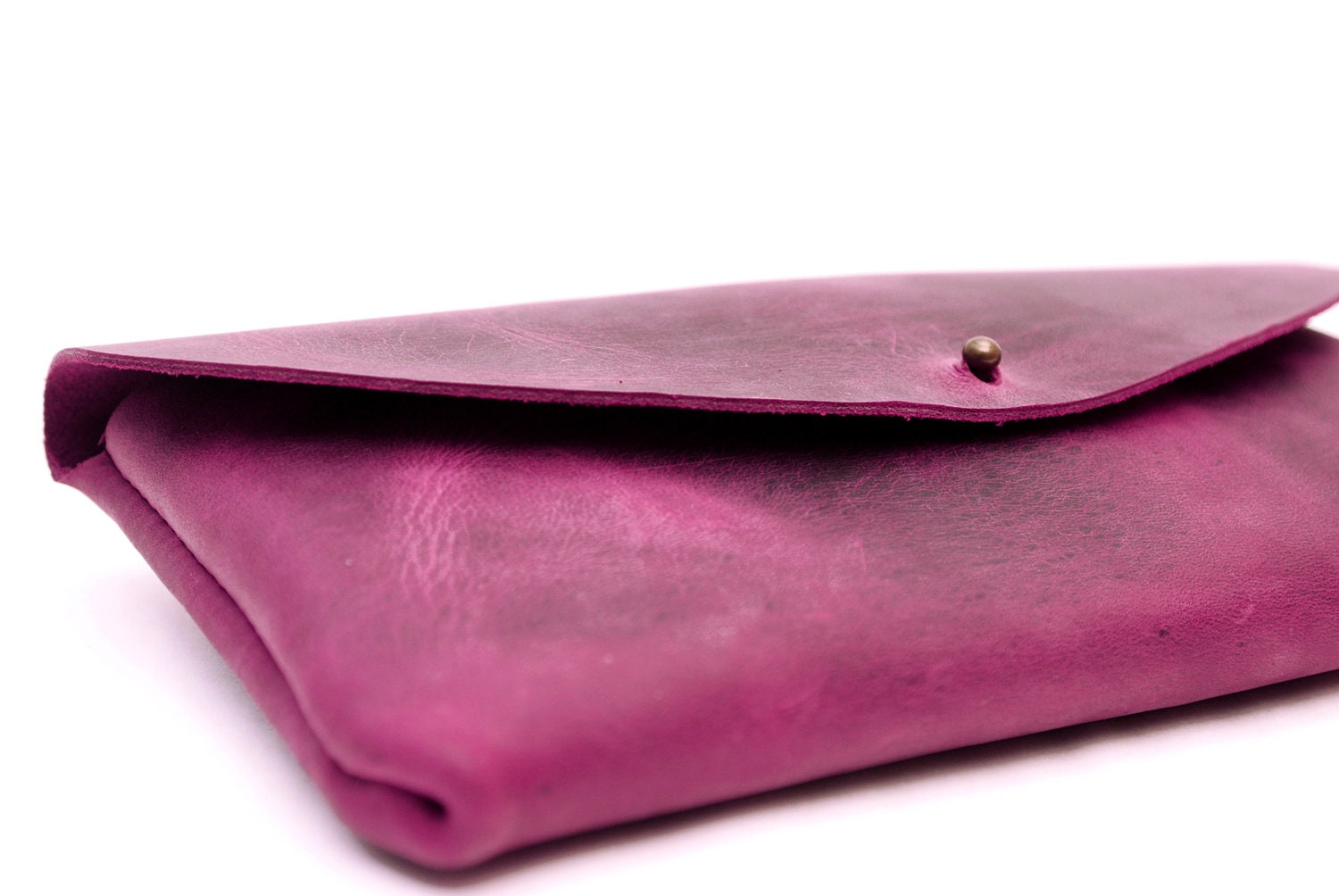Leather clutch bag. Oiled leather handbag. Bags and purses.