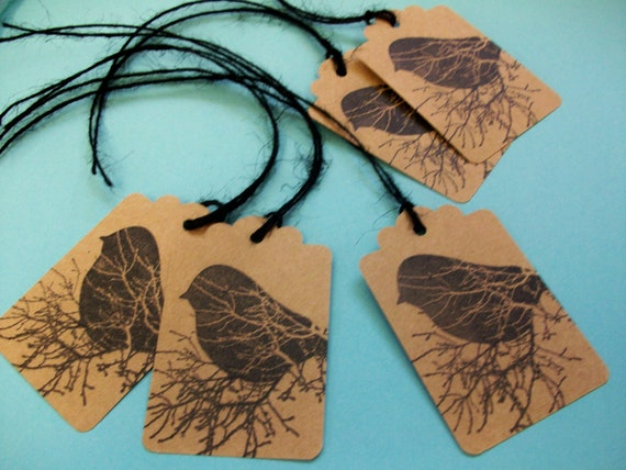 "All Occasion Tags ""Sweet Birdie"" With Ties"