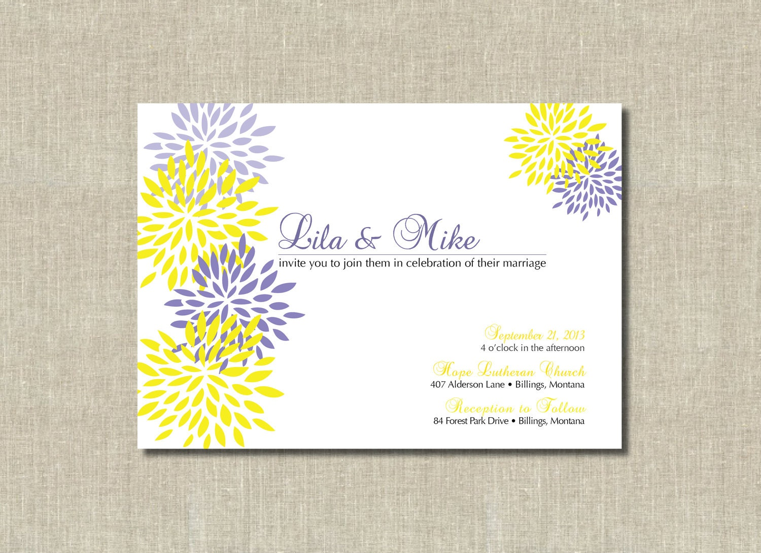 Wedding Invitations Purple was beautiful invitations sample
