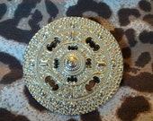 Silver Circular Pendant - Aztecan - Brooch