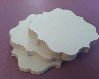 """50 wedding place cards, table number cards, white bracket card tags, wish tree tags, 2"""" x 2"""""""
