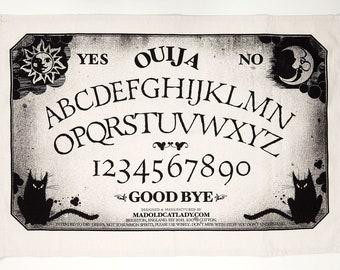 Halloween Ouija board tea-towel