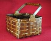Walnut with Cherry trim market basket