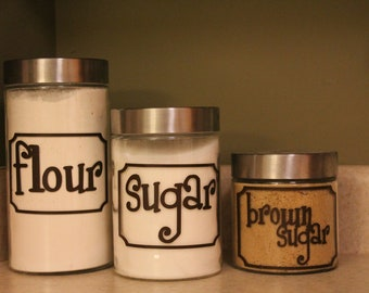 Custom Kitchen Canister Labels