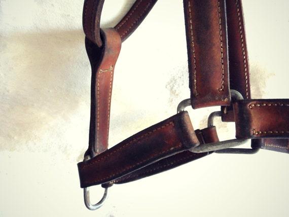 Vintage Danish 1940s Horse Leather Halter