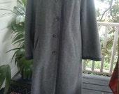 Grey wool/flannel coat