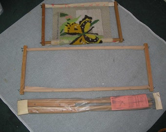 Handy tool Scroll frame for needlepointer or crewel work with 18 inch scroll bars.