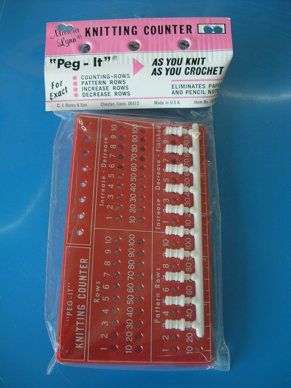 "Macia Lynn/C.J. Bates ""Peg-It"" Row Counter vintage but brand new in original package"