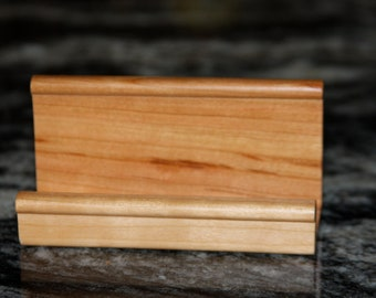 Business or Recipe Card Holder Handmade out of Cherry - Free Shipping to USA