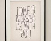 Home 11x14 Typography Art Print