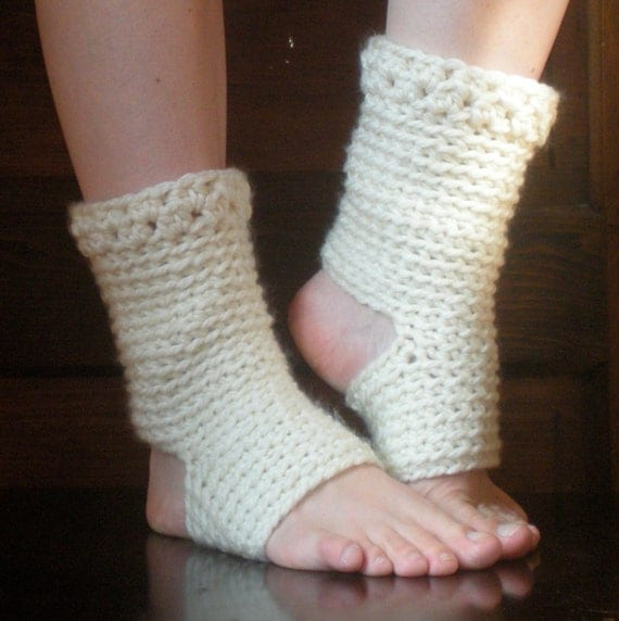 Crochet Yoga Socks : : Thick Yoga Socks, Dance Pilates Ballet Leg Warmers, easy crochet ...